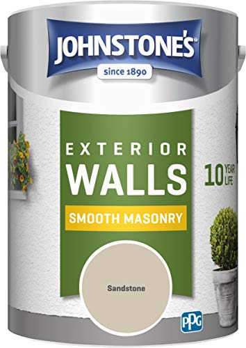 Johnstone's 307123 Weatherguard Smooth Masonry Sandstone, 5L