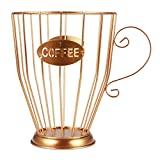 Cápsula de café universal cesta de almacenamiento para tazas de café vintage organizador de cápsulas de café negro para Home Cafe Hotel Cocina Contenedores de almacenamiento
