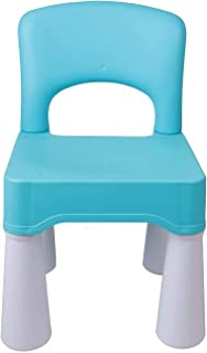 """Mumoo Bear Plastic Kids Chair, Durable and Lightweight, 9.3"""" Height Seat, Indoor or Outdoor Use for Boys Girls Aged 2+, Blue"""
