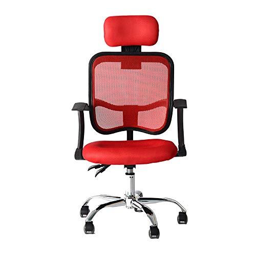 Silla de Escritorio Silla de oficina ergonómica: admite más de 250 lbs. - Comfort Mesh Back con soporte lumbar - Reposacabezas totalmente ajustable + Apoyabrazos y ruedas - Perfect Office Chair u Hom