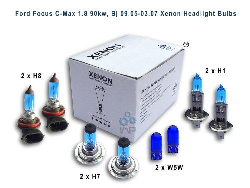 Ford Focus C-Max 1,8 90kw, Bj 09, 05-03, 07 Per fari allo xeno lampadine H8, H1, H7, W5W