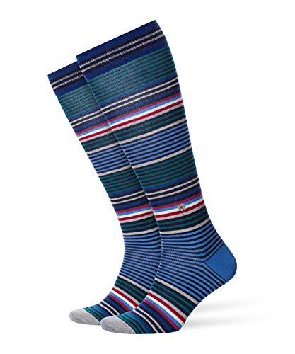 BURLINGTON Herren Stripe M KH Kniestrümpfe, Blau, 40-46 (UK 6.5-11 Ι US 7.5-12)