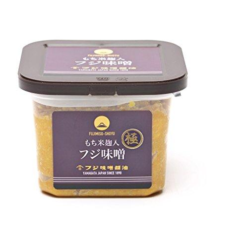 山形県産米ササニシキと国産丸大豆使用・極上味噌(つぶ)(750g)カップ入り・もち米麹入り麹歩合200の超高級味噌