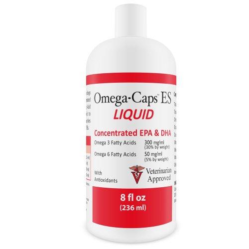 Omega-Caps ES Liquid - Vitamins, Minerals, Omega-3 Fatty Acids, Antioxidants for Dogs and Cats - 8 fl oz