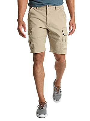 Wrangler Authentics Men's Big & Tall Classic Relaxed Fit Stretch Cargo Short, grain twill 44