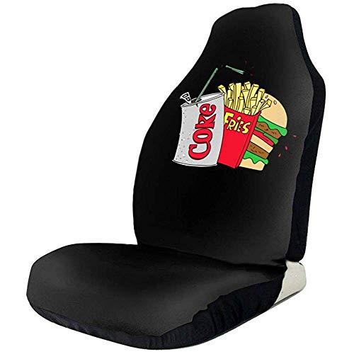 Car Seat Protector,Junk Food Und Eine Diät Cola Funktionale Vordere Autositzbezüge Für Van Car 2 Teile/Satz