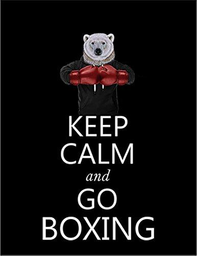 【FOX REPUBLIC】【KEEP CALM ボクシング シロクマ】 黒光沢紙(フレーム無し)A4サイズ