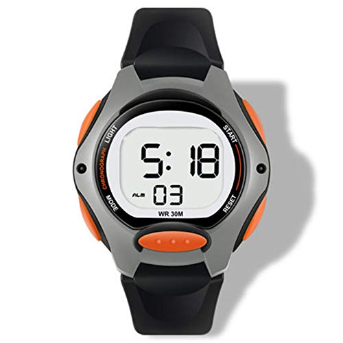 SFBBBO Reloj niño Reloj de Pulsera Digital para niños y niñas, Relojes Deportivos Impermeables con LED, Naranjas Luminosas Impermeables