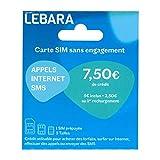 Carte SIM prépayée Lebara Mobile 7.5€ de crédit Inclus