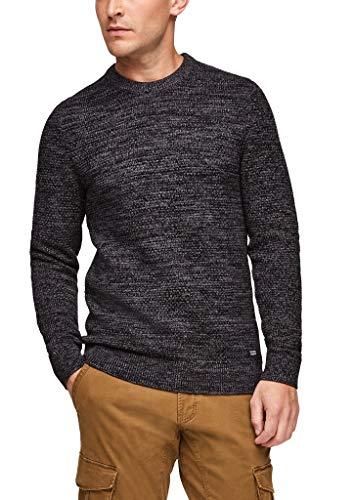 Q/S designed by - s.Oliver Herren 520.12.012.17.170.2053834 Pullover, Black Melange, L