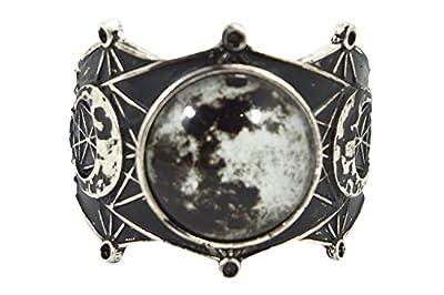 Sacred Geometry Luna Full Moon Cuff Bracelet