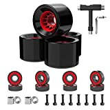 Skateboard Wheels 70mm 80a with Skateboard T Tool and ABEC-9 Bearings Spacers Cruiser Wheels (Pack of 4) (70mm with T Tool)