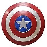 BCCDP Bouclier Captain America Enfants Metal 1 à 1 Accessoires de Film Métal Cosplay Props pour Adultes Bouclier en Fer de Capitaine Américain 35CM/47CM/60CM