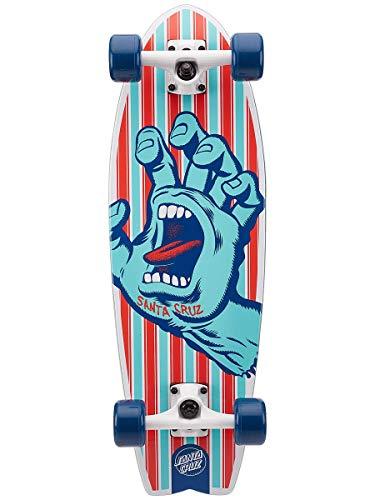 Santa Cruz Weekend Hand Shark Cruzer Skateboard completo, multicolore, 22,8 cm L x 70 cm W