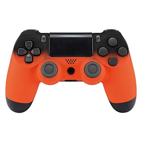 eXtremeRate PS4 Controller Gehäuse Schutzhülle Obere Case Hülle Cover Oberschale Skin Schale Shell für Playstation 4 PS4 Slim PS4 Pro Controller JDM-040 JDM-050 JDM-055(Schatten Orange)