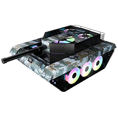 LIQIANG Computer Case, ATX Game Case, Tank Shape, Support E-ATX Motherboard