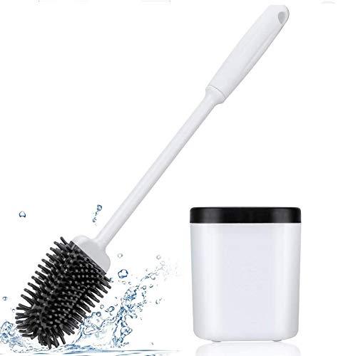 Menetop トイレブラシ き 360°植毛タイプ TPR材質 水はね防止 傷つけない トイレ掃除用品 便所掃除 速乾 通気 抗菌 衛生 省スペース 壁取り付け 便器ブラシ