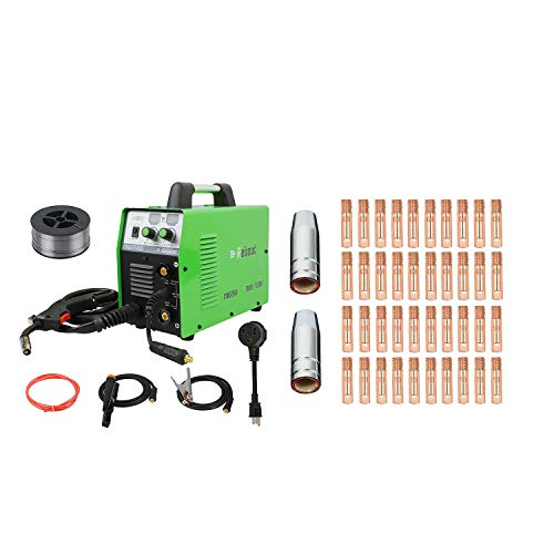 MIG Welder Flux Core Gasless Reboot MIG150 110V/220V Stick Mig Welding Machine Dual Voltage 150 Amps Gas and Gasless with Consumables 42pcs