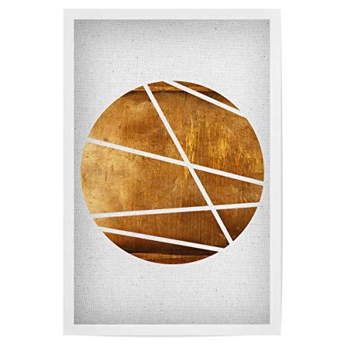 artboxONE Poster 30x20 cm Abstrakt Circle hochwertiger Design Kunstdruck - Bild Kupfer Kreis Kupfer
