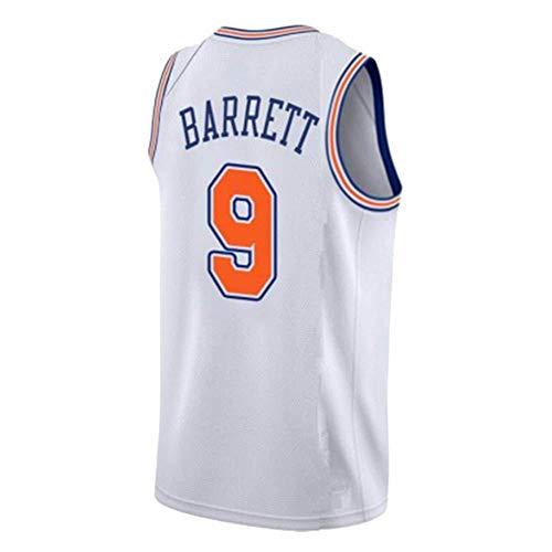 LUCKY Jersey Jersey NBA Basketball Maglia New York Knicks # 9 RJ Barrett Uomo,Bianca,XXL