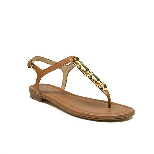 Michael Michael Kors Women's Mahari T-Strap Sandal, Size 7.5 M Acorn