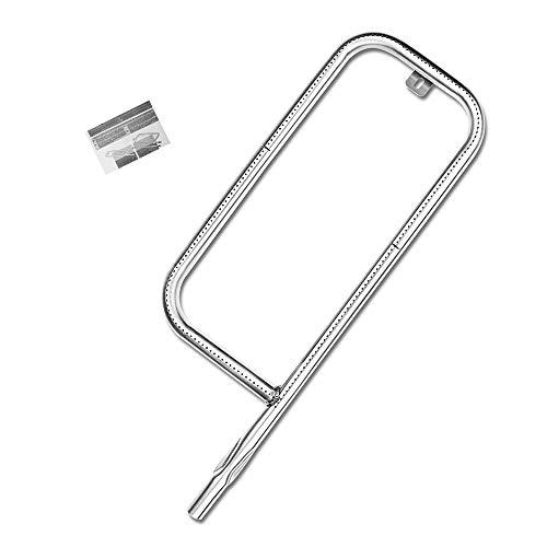 Denmay 41862 - Quemador de tubo de acero inoxidable no magnético para parrilla Weber Q200 Q220 Q2000 Q2200 396000 396001 396002 5660001 54060001, Weber 69956, 60041, 13231