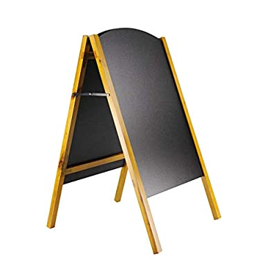 FixtureDisplays 21 x 34 A-Frame Chalkboard, Black Dry Erase for Traditional Chalks & Wet Erase for Liquid Chalks, Removable Boards, 2 Sided, Pine 19208