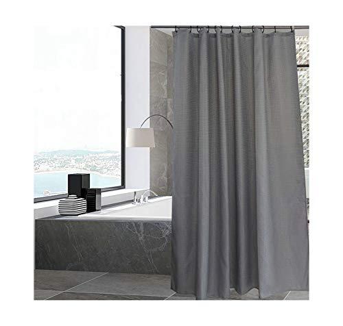 MaxAst Duschvorhang Wasserdicht Duschvorhang Einfacher Duschvorhang Polyester Grau Duschvorhang Badewanne 180x190CM