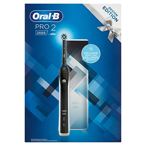 pequeño y compacto Oral-B Pro 2 2500 Design Edition – Cepillo de dientes eléctrico recargable, 2 modos de cepillado,…