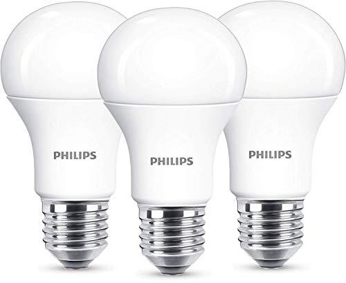 Philips 8718696657782 A+, LED 100W A60 E27 WW 230V FR ND 3BC/6, Plastik, 13 watts, E27, matt, 6.0 x 6.0 x 11.0 cm