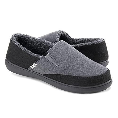 Zigzagger Men's Fuzzy House Slippers with Memory Foam, Indoor/Outdoor Footwear …
