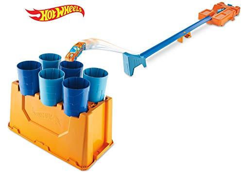 Hot Wheels GCF91 - Track Builder System Fässer-Stunt Box