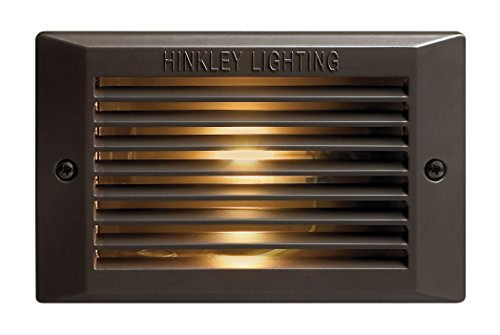 Hinkley Step Light – Add Security to Outdoor Living Spaces with Ultra-Durable Step Lights – 120-Volt, Bronze Finish, 25w G-9 Light Bulb, 58025BZ