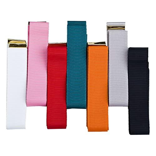 Cinturón de lazo y nudo de grosgrain con bonito acabado de placas de metal dorado, uniforme, ropa o decoración del hogar como corbatas. Neotrims uk. Red, 180 cm
