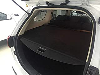 Vesul Black Tonneau Cover Retractable Rear Trunk Cargo Luggage Security Shade Cover Shield Compatible with Mitsubishi Outlander 2014 2015 2016 2017 2018 2019 2020 (with Power Remote Liftgate)