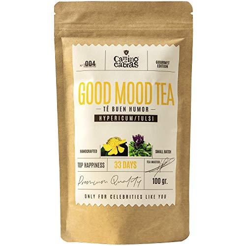 Nº004 GOOD MOOD TEA -Té Buen Humor - Té Gourmet de hierbas – FUENTE DE VITAMINAS Y MINERALES - Infusión Antioxidante - 33 días - Ingredientes 100% Naturales - bolsa de 100 gr.
