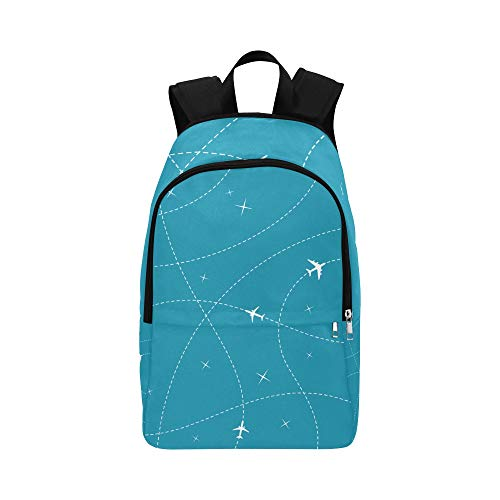 Backpacks for Boys Colorful Cartoon Creative Cute Aircraft Durable Water Resistant Classic Boys Sports Bag College Student Bag for Women Best Bookbag Womens Travel Toiletry Bag