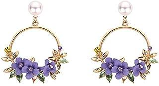 Zealite necklace for girlfriend initial 2019 New Fashion Luxury Statement Earrings Big Geometric Round Circle Dangle Earri...