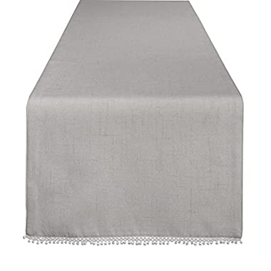 Lenox French Perle Solid 90  Runner, Dove Grey