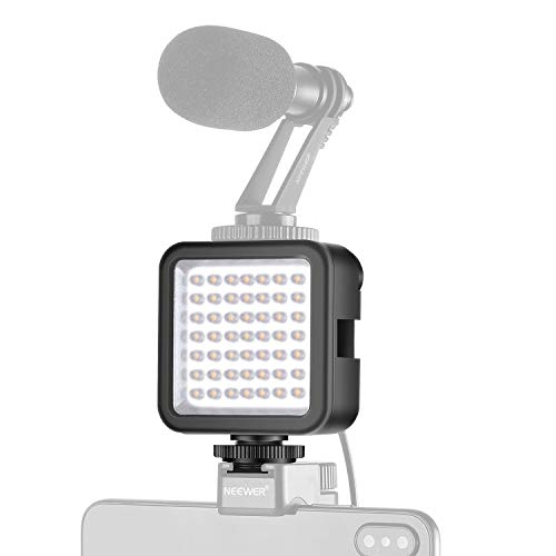 Neewer Mini Luce LED Ultra Luminosa – 49 Bulbi Dimmerabili a Potenza Alta, Compatibile con DJI Ronin-S OSMO Mobile 2 Zhiyun WEEBILL Smooth 4 Gimbal Reflex Digitali Canon Nikon Sony ecc.