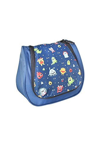 Grüezi-Bag Kinder Kulturtasche Washbag Kids Monster, im Monster Design, 20 x 20 x 6 cm