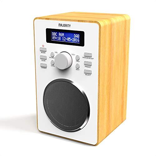 Majority Barton II Digitale DAB/DAB+ E FM Radio, Doppio Allarme, Snooze E Funzione Sleep, Impostazione Ora Automatica … (Quercia)