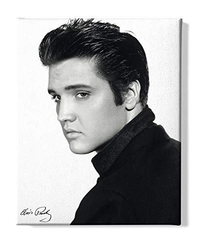 1art1 Elvis Presley - Portrait Bilder Leinwand-Bild Auf Keilrahmen   XXL-Wandbild Poster Kunstdruck Als Leinwandbild 50 x 40 cm