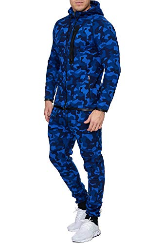 Violento Herren Camouflage Army Jogginganzug Jogging Hose Jacke Sportanzug Military