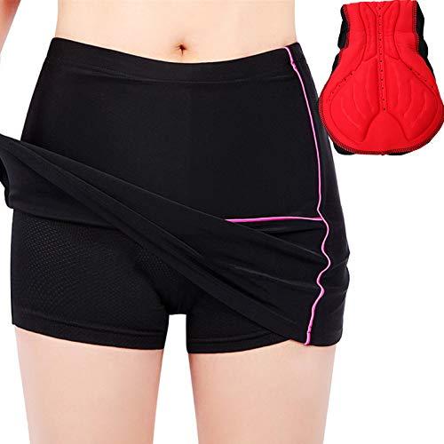 Culotes Ciclismo Mujer,Transpirable Pantalones Cortos De Ciclismo,para Mujer 2 en 1 Transpirable...