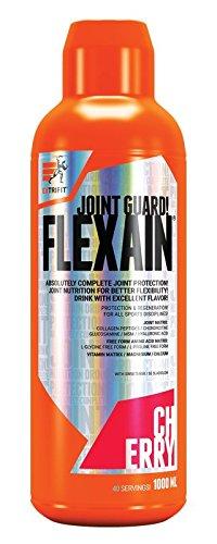 Extrifit Flexain Paquete de 1 x 1000ml - Colágeno - MSM - Glucosamina - Condroitina - Ácido Hialurónico - Vitaminas y Minerales (Cherry)