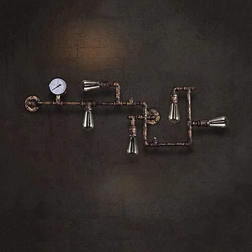 N/C RéTro Balcon CréAtif Applique Murale Personnalité American Restaurant Bar Applique Murale Industrielle Tuyau d'eau Lampe Murale [Niveau D'éNergie A ++],Bronze