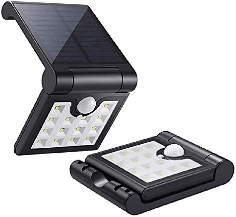 Wasserdichte Wandlampe für den Auenbereich ZS, Solarleuchten Im Freien, mit Bewegungsmelder 120° Weitwinkel Wetterfeste Auenwandleuchten 14 LED Faltbare Solar Sicherheitsleuchte Auenbeleuchtung für