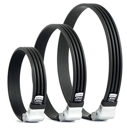 Litelok® Silver Flexi-O Fahrradschloss - Leicht, hohe Sicherheit (85-85cm x 3.5cm)