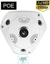 HD Security 1080P POE 2.0MP 360 degree Panoramic CCTV Security IP Network FishEye Camera